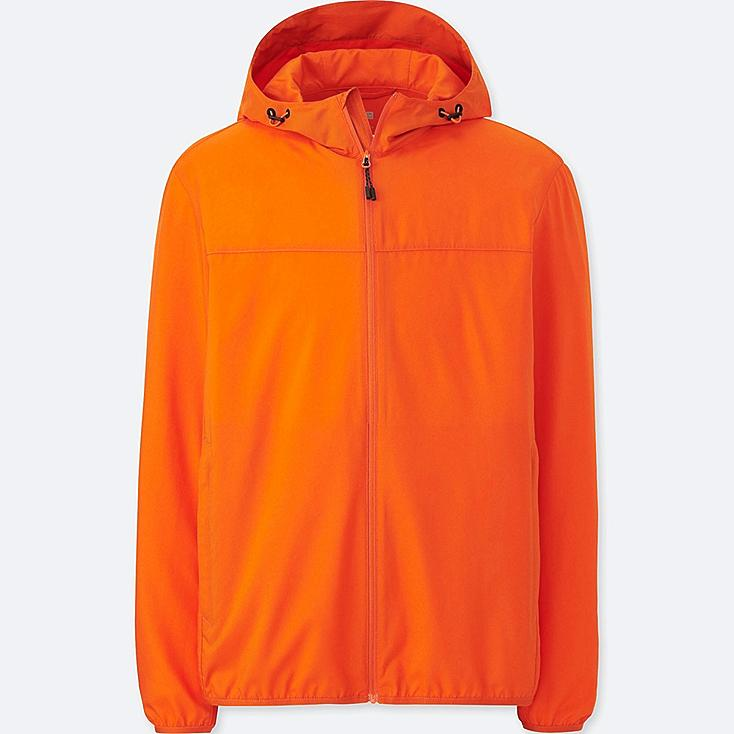 MEN POCKETABLE PARKA, ORANGE, large