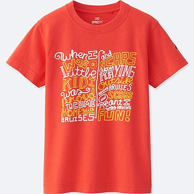 KIDS SPRZ NY GRAPHIC T-SHIRT (Timothy Goodman), ORANGE, medium
