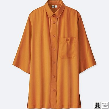 Damen U 100% Baumwoll Bluse (3/4 Arm)