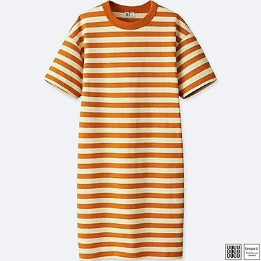 Damen U 100% Baumwoll gestreiftes Kleid