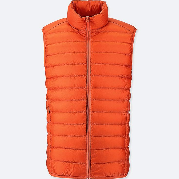MEN ULTRA LIGHT DOWN VEST, ORANGE, large
