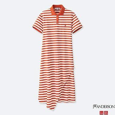 WOMEN JWA POLO RUFFLE DRESS, ORANGE, medium