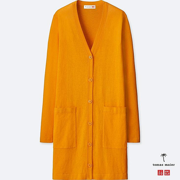 Women Tomas Maier 100% Cotton Long Cardigan by Uniqlo