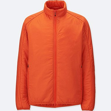 MEN PADDED STAND JACKET, ORANGE, medium