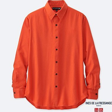 MEN INES FLANNEL LONG SLEEVE SHIRT