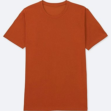 MEN PACKAGED DRY CREWNECK SHORT-SLEEVE T-SHIRT, ORANGE, medium