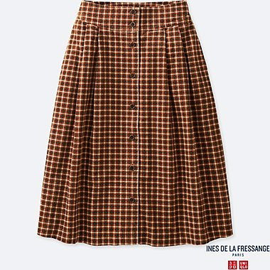 WOMEN INES CORDUROY CHECKED SKIRT
