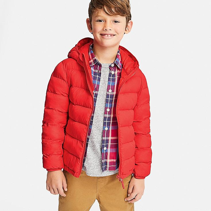 BOYS LIGHT WARM PADDED PARKA, ORANGE, large