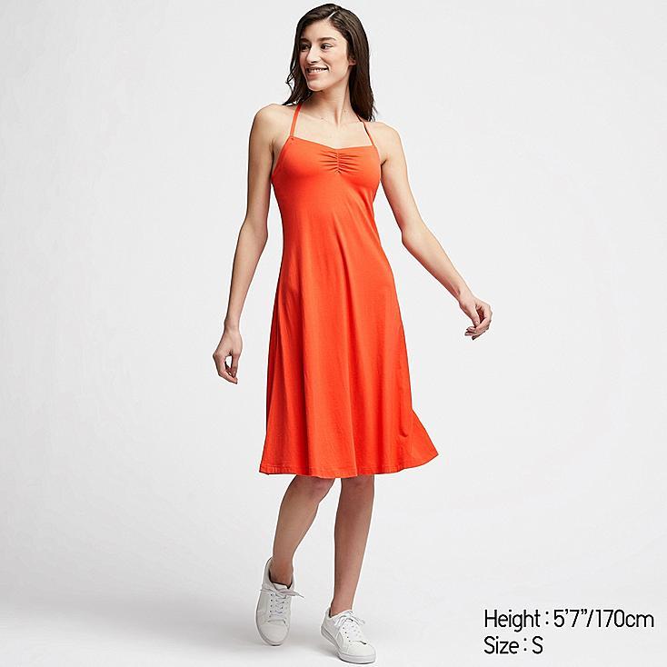WOMEN CAMISOLE BRA DRESS, ORANGE, large