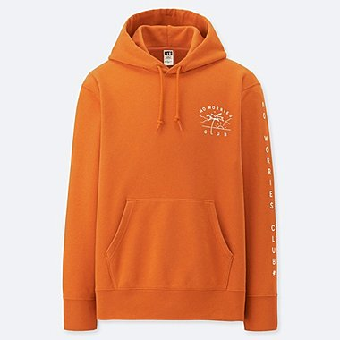 PIETER CEIZER GRAPHIC HOODED SWEATSHIRT, ORANGE, medium