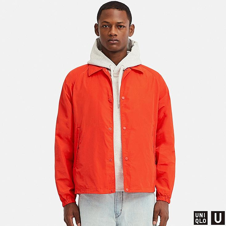MEN U POCKETABLE COACH JACKET, ORANGE, large