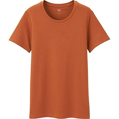 WOMEN Supima Cotton Crew Neck Short Sleeve T