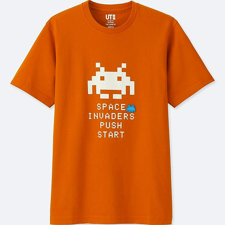 THE GAME BY TAITO SHORT-SLEEVE GRAPHIC T-SHIRT (SPACE INVADERS), ORANGE, large