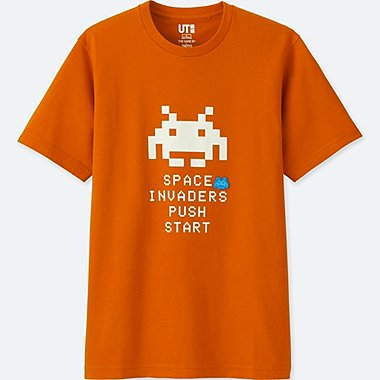 THE GAME BY TAITO SHORT-SLEEVE GRAPHIC T-SHIRT (SPACE INVADERS), ORANGE, medium