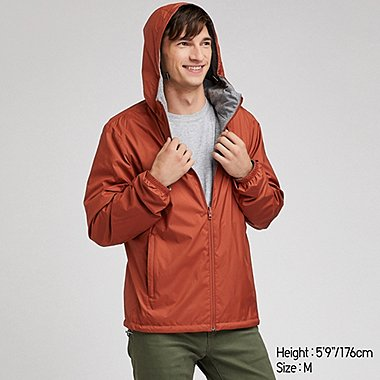 MEN REVERSIBLE PARKA, ORANGE, medium