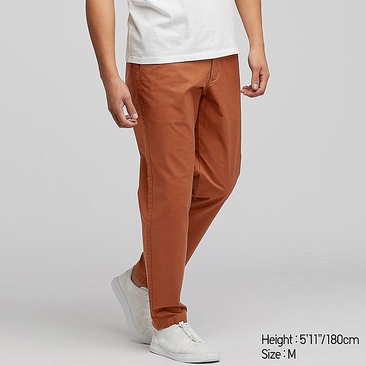 MEN PULL-ON RELAXED PANTS, ORANGE, large