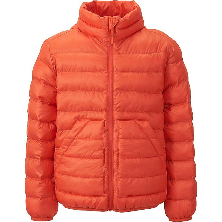 BOYS LIGHT WARM PADDED JACKET, ORANGE, large