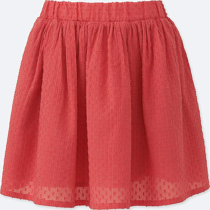 GIRLS EASY SKIRT, ORANGE, large