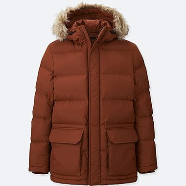 MEN DOWN JACKET, ORANGE, medium