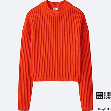 WOMEN Uniqlo U Middle Gauge Crew Neck Sweater