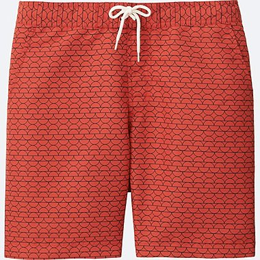 MEN SWIM ACTIVE SHORTS, ORANGE, medium