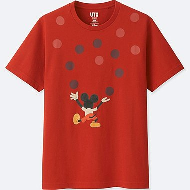 MICKEY ART SHORT-SLEEVE GRAPHIC T-SHIRT (GEOFF MCFETRIDGE), ORANGE, medium