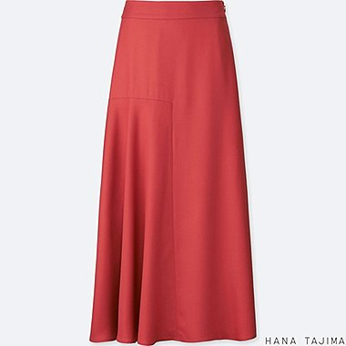 WOMEN TENCEL FLARE LONG SKIRT
