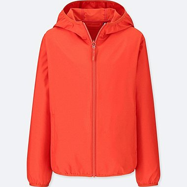 KIDS POCKETABLE PARKA, ORANGE, medium