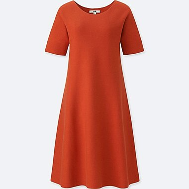 WOMEN 3D COTTON SHORT SLEEVE DRESS
