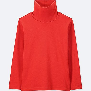 KIDS SOFT TOUCH LONG-SLEEVE TURTLENECK, ORANGE, medium