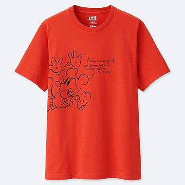 MEN CELEBRATE MICKEY SHORT-SLEEVE GRAPHIC T-SHIRT, ORANGE, medium
