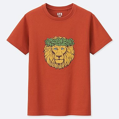 KIDS THE BRANDS HAWAIIAN LOCO UT (SHORT-SLEEVE GRAPHIC T-SHIRT), ORANGE, medium