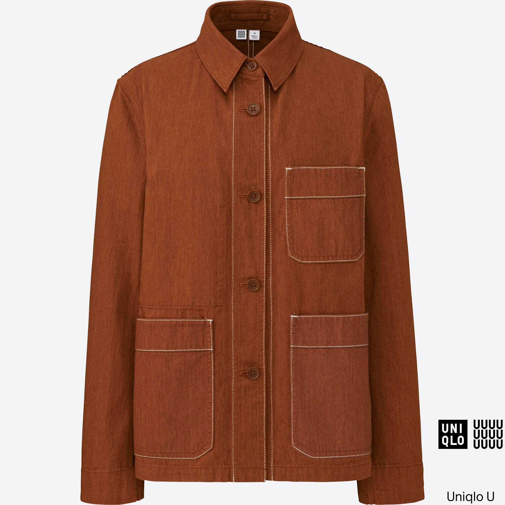 Leather jacket uniqlo - Women U Work Jacket Dark Orange Large