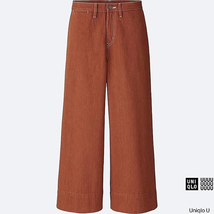WOMEN U DENIM WIDE LEG PANTS | UNIQLO US