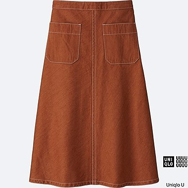 WOMEN Uniqlo U Denim Flare Skirt