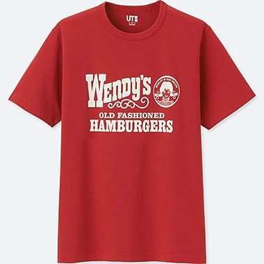 MEN THE BRANDS SHORT-SLEEVE GRAPHIC T-SHIRT (WENDYS), DARK ORANGE, medium