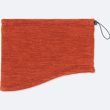 HEATTECH FLEECE NECK WARMER, DARK ORANGE, medium