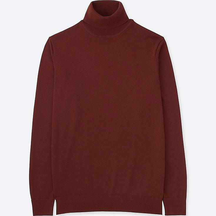 Men Extra Fine Merino Turtleneck Sweater Uniqlo Us