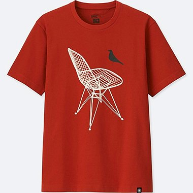 SPRZ NY EAMES SHORT-SLEEVE GRAPHIC T-SHIRT, DARK ORANGE, medium