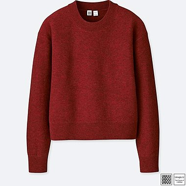 WOMEN UNIQLO U PREMIUM LAMBSWOOL MOCK NECK SWEATER