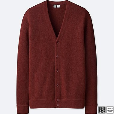 MEN UNIQLO U WOOL V NECK LONG SLEEVED CARDIGAN