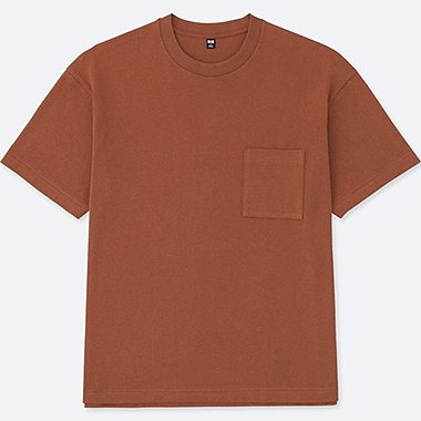 MEN OVERSIZED SHORT SLEEVE CREWNECK T-SHIRT, DARK ORANGE, medium