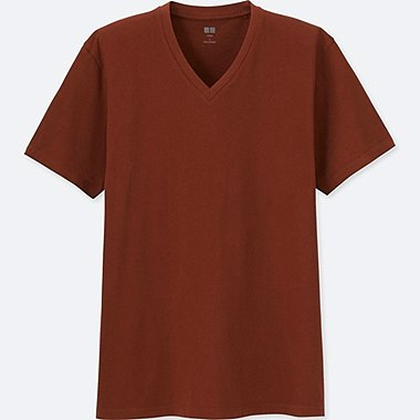 MEN SUPIMA® COTTON V-NECK SHORT-SLEEVE T-SHIRT, DARK ORANGE, medium