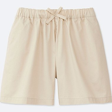 GIRLS EASY FLARE SHORTS, NATURAL, medium