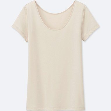 WOMEN AIRism Scoop Neck Short Sleeve T-Shirt