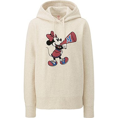 WOMEN DISNEY SWEAT PULLOVER HOODIE, NATURAL, medium