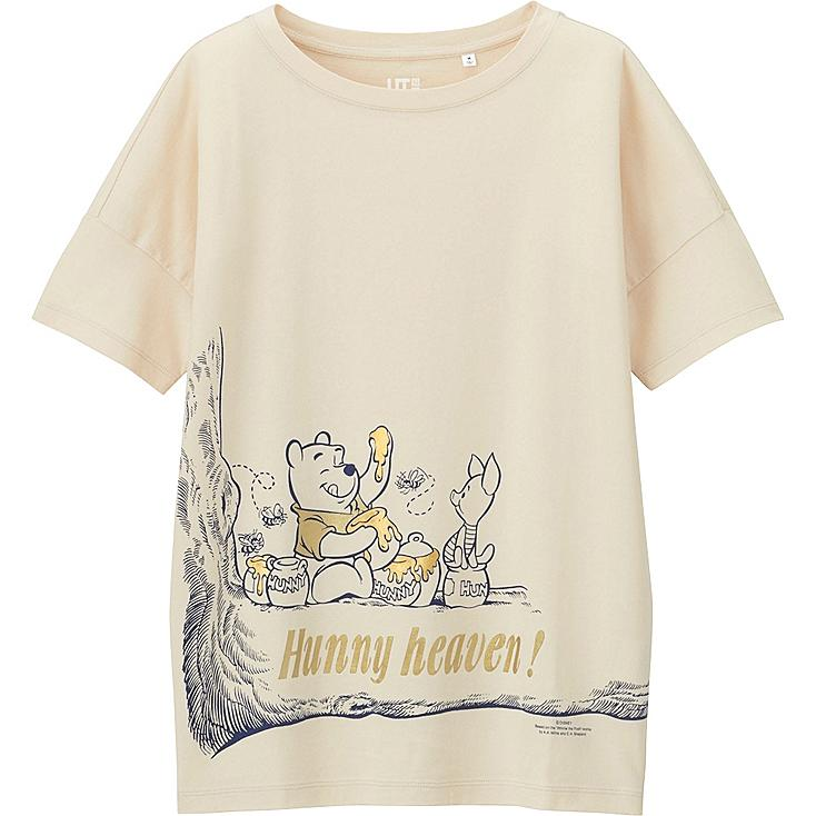 WOMEN DISNEY PROJECT SHORT SLEEVE GRAPHIC T-SHIRT, NATURAL, large