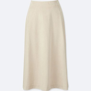 WOMEN High Waist Flare Skirt
