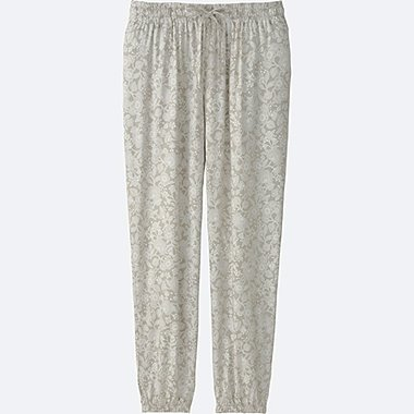 WOMEN DRAPE PANTS, NATURAL, medium