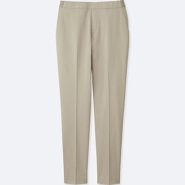 WOMEN SATIN ANKLE LENGTH TROUSERS